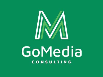 GoMedia Consulting green logo design