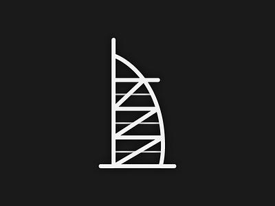 Burj Al Arab Icon burj al arab dubai design ui icon