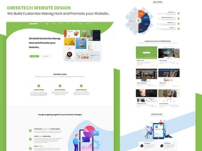 Progeektech landing page type icon typography learing website design landing page design website web ux ui design