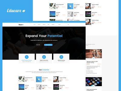 Educare Landing Page learing website design landing page design website web ux ui design