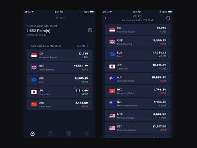 Money Changer On The Go Design Concept finance app dark app mobile app ux ui