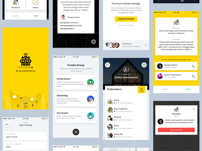 Secure Family App family app ios design mobile app ux ui