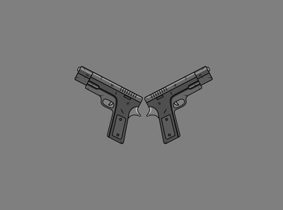 Flat Guns Illustration