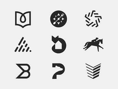 Logotypes & Brandmarks simple modern icon logomark identity symbol branding collection logopack logo