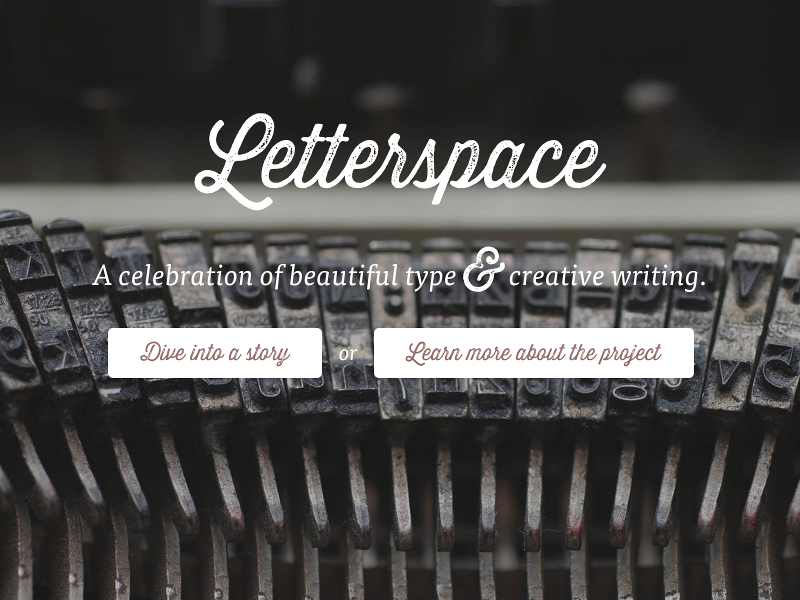 Letterspace typography writing web design web website logo type