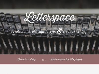 Letterspace v2 typography writing web design web website logo type