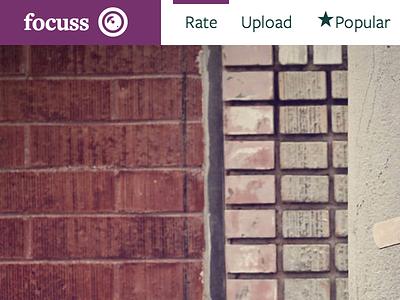 Focuss photography logo web design