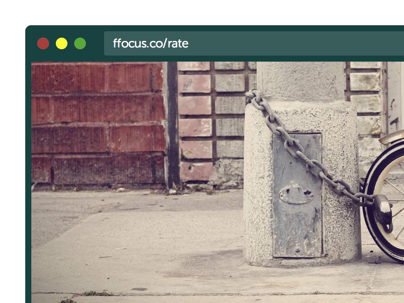 ffocus Homepage photography web design ui screenshot