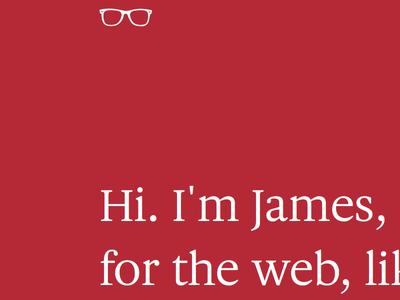 Updated Homepage web design website web site typography