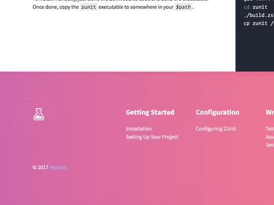 ZUnit Footer logo design web