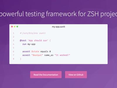 ZUnit Homepage code design web