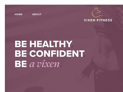 Vixen Fitness Homepage training workout gym design web