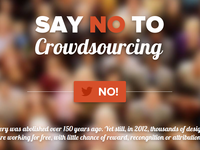 Say no to crowdsourcing
