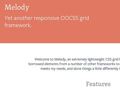 Melody css web website code framework