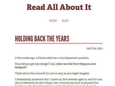 Read All About It - Blog website web design web font typography theme anchorcms