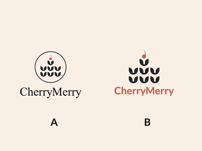 Cherry Merry 2021 branding graphic  design artwork shop logo bakery logo hotels cafe logo vector logo illustration minimalist logo design
