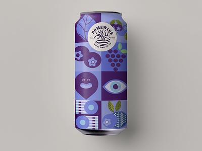 Pome wine identity & packaging Design brand design drinks blueberry new year winter create logo colorful design design branding vector logo graphic  design minimalist fresh design geometric design wine