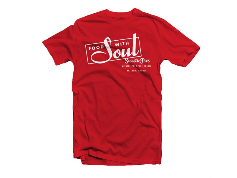 Sweetie Pie's Food with Soul typography t-shirt