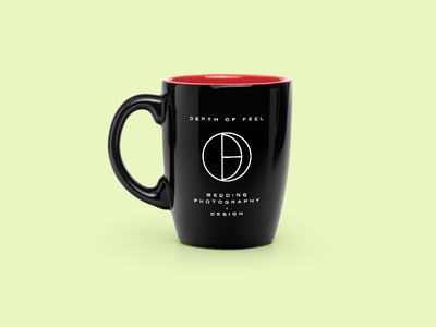 Depth of Feel Concept 03 circle concept identity mug thin minimal lines icon mark logo symbol