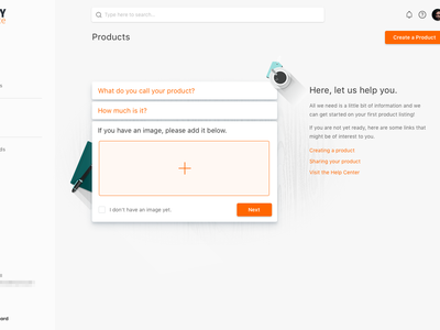 Empty State Concept ecommerce ui empty state form application web