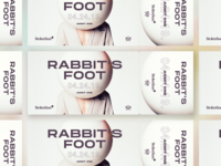 Rabbit's Foot Premiere Ticket design event typography print ticket