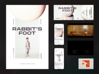 Rabbit's Foot — Collateral label social movie credits ticket typography poster