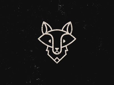 A logo for my son. mark minimal black white illustration fox