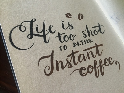 Coffee custom type typography calligraphy brush coffeetime coffee script lettering