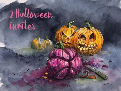Halloween Invites pumpkin halloween invites invite invitation giveaway dribbble invites dribbble
