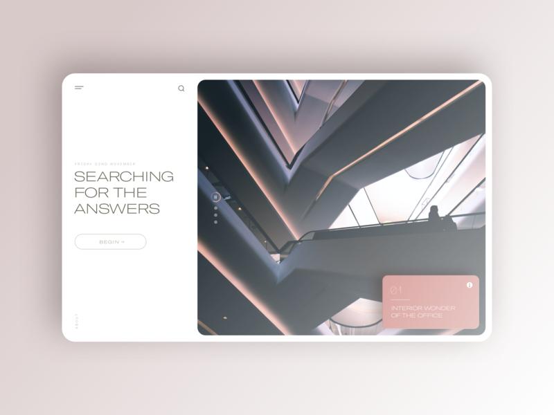 Carousel Experiment prompt ux sketch ui concept landing product design webdesign