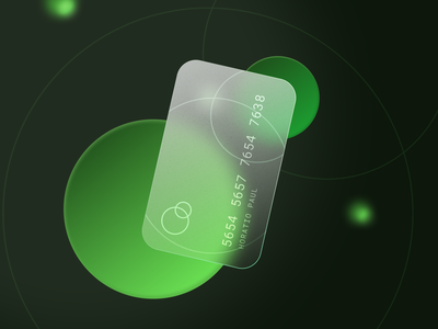 Glass Card glass orbs bank card daily concept