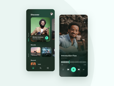 Music App concept music player ui app music app