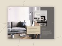 Interior Design concept - Project page
