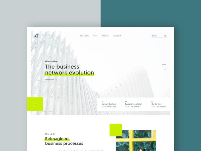 Business Networking concept landing page simple redesign daily ui page sketch design landing concept ui