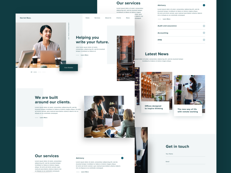 Accounting Firm Concept user interface ux uiux ui visual business money home landing sketch professional accounting