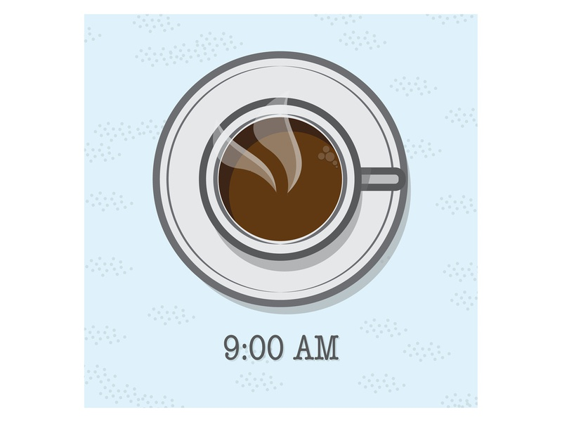 Coffee coffee cup coffee 9am black coffee brown mug formica table retro early morning morning time of day time around the clock beverages drinks design illustration color adobe illustrator