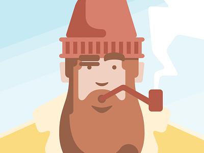 Self portrait sailor character portrait flat vector illustration