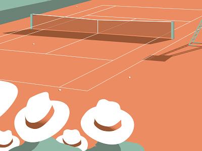 Guess who! Illustration serie hat roland garros sport tennis graphic design illustration