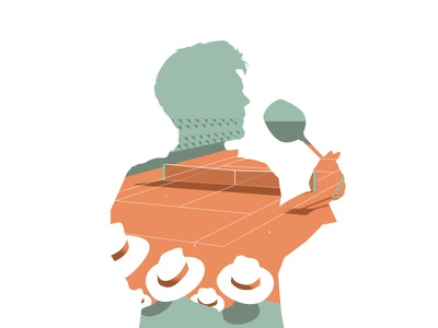 Guess who! Illustration serie character portrait hat roland garros sport tennis graphic design illustration