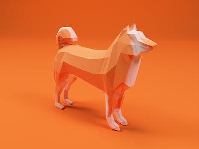 Low-Poly Shiba Inu low-poly puppy dog orange polygon poly low shiba inu shibainu shiba render blender3d 3d art blender 3d lowpolyart low poly lowpoly