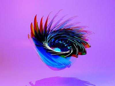 Abstract Glass Flower 3dart render b3d blender cg art cg abstract art glass flower abstract