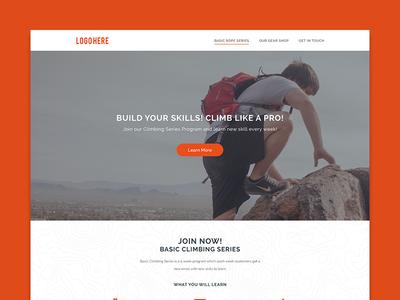 Landing Page outdoor adventure climbing climb design web page landing