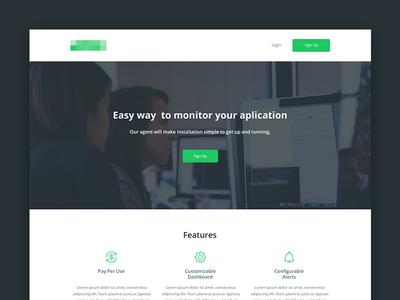 Website design for monitoring start up. start up creative responsive bootstrap simple design website
