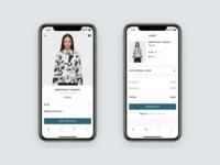 Clothes Store App Concept