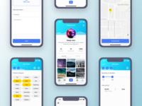 Fresh UI design for a Social App network icons profile categories step ui clean design concept app