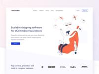 PostTracker  Homepage parcel landing page vector illustration clean design concept ui homepage