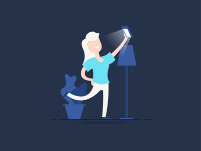 Selfie scene vector pink graphic design colour blue design illustration character design
