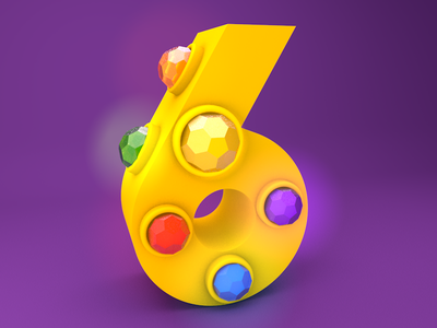 Number 6 - Infinity Wars avengers marvel 36daysoftype 36days-n c4d render thanos