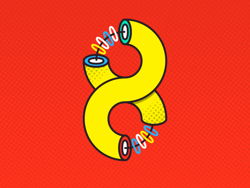Number 8 (Ocho) number 36daysoftype 36days-8 eight halftone popart