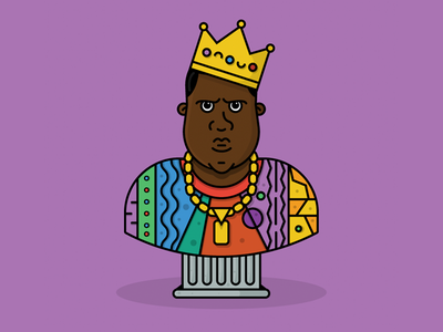 Biggie Birthday v2.0 bust rap notorious big hiphop crown character biggie smalls biggie big